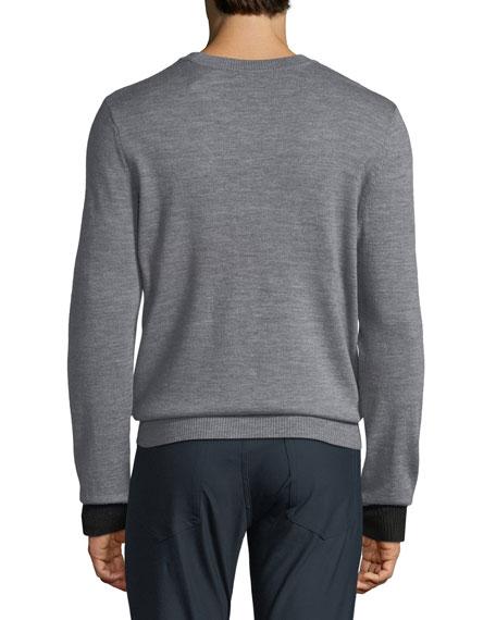 ATM Anthony Thomas Melillo Men's Striped Merino Knit Sweater