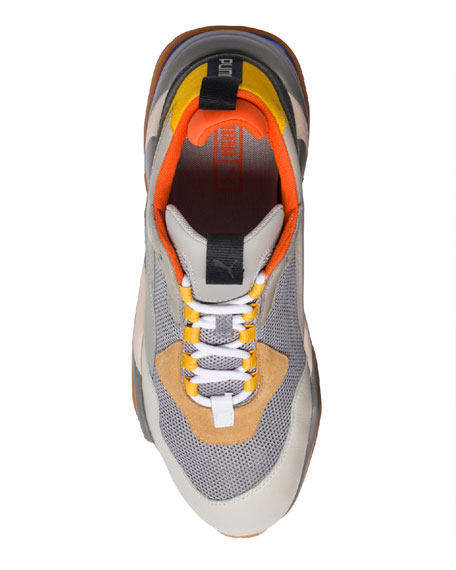 Puma Men's Thunder Spectra Leather Trainer Sneakers, Gray