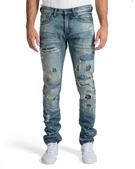 PRPS Men's Le Sabre Fit Destroyed Jeans