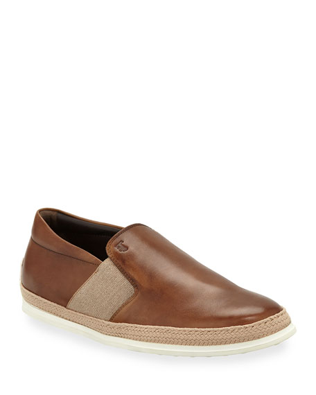 Tod's Men's 0-TV Espadrille Slip-On Sneakers