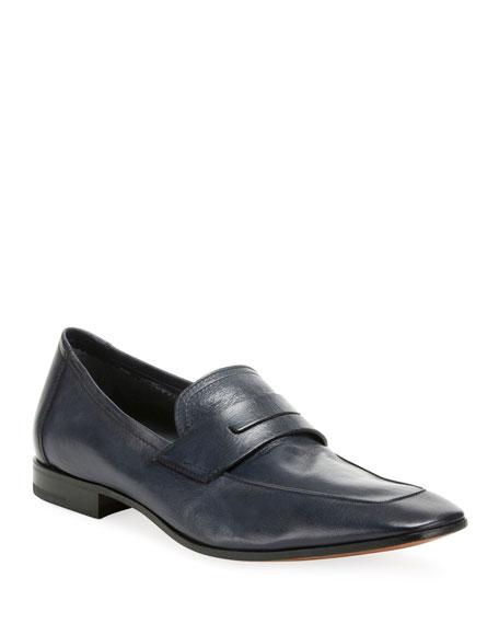 Berluti Men's Incrociato Leather Loafers