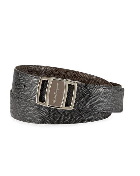 Salvatore Ferragamo Men's Reversible Vara-Buckle Belt