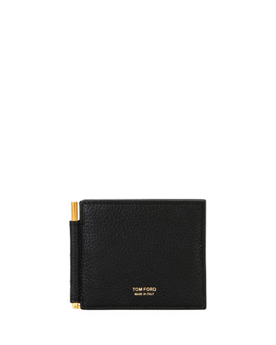 Men's Leather Wallet with Money Clip
