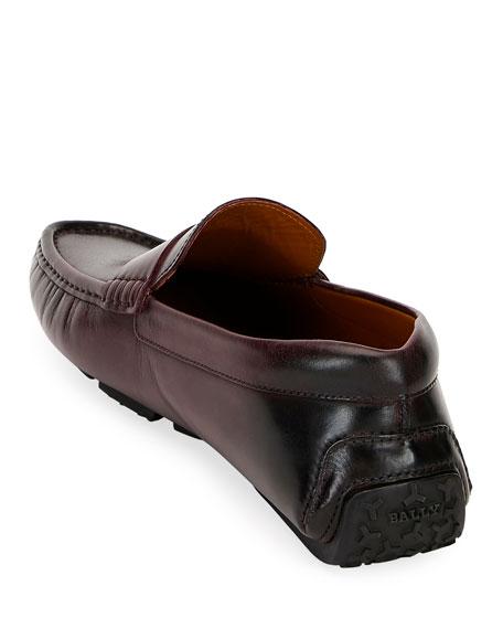 Bally Men's Pievo B-Detail Leather Drivers