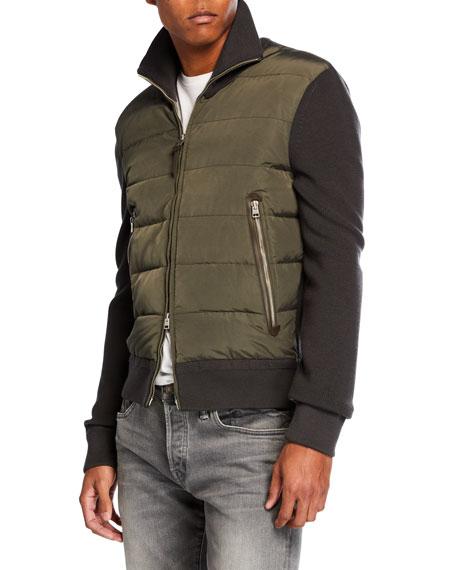 TOM FORD Men's Gauge Front Blouson Jacket