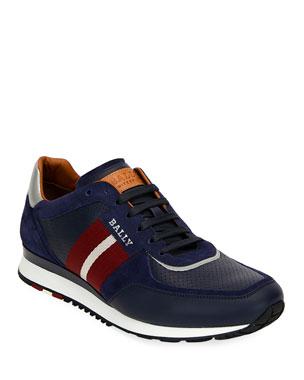 a2dd6373e89ab Bally Men's Aston Leather Runner Sneakers