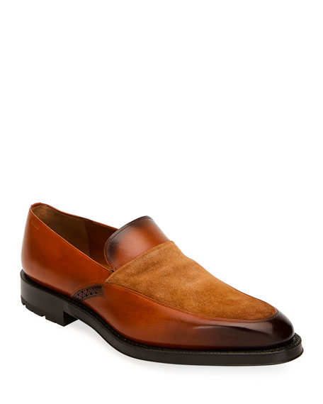 Bally Men's Bassy Leather Slip-On Shoes