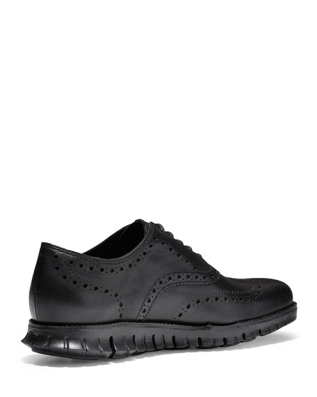 Image 2 of 5: Cole Haan Men's ZeroGrand Leather Wing-Tip Oxfords
