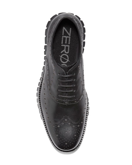 Image 5 of 5: Cole Haan Men's ZeroGrand Leather Wing-Tip Oxfords