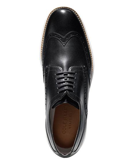 Cole Haan Men's Original Grand Leather Wing-Tip Oxfords, Black