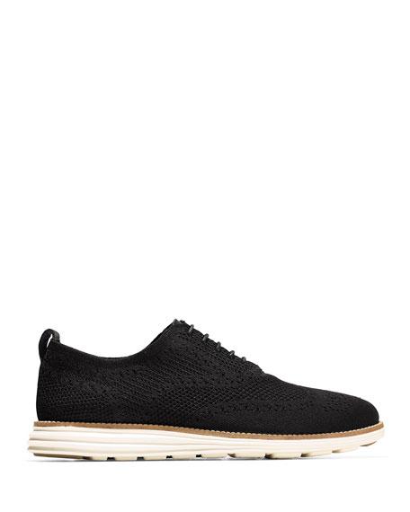 Cole Haan Men's ZeroGrand Knit Oxford Sneakers, Black