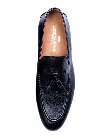 Image 3 of 4: Men's Winston Leather Tassel Loafers