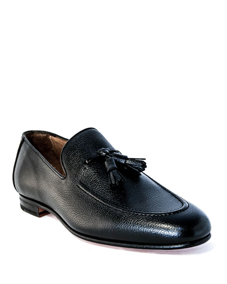 Image 1 of 4: Men's Winston Leather Tassel Loafers