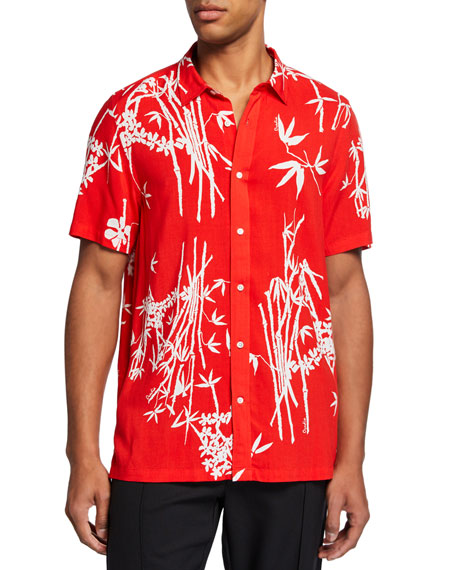 Ovadia & Sons Men's Bamboo Camp Shirt