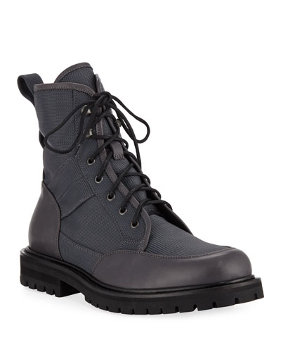 Men's Irus Mesh Boots with Leather Trim