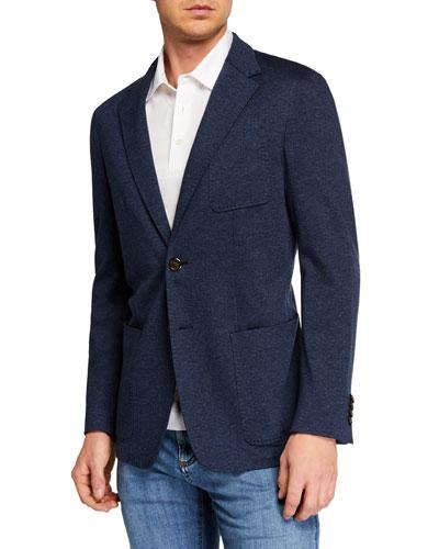 Men's Herringbone Knit Sportcoat