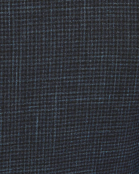 Canali Men's High Performance Tonal Check Two-Piece Suit