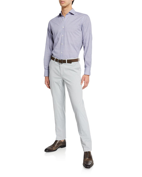 Canali Men's Stretch-Twill Flat-Front Pants