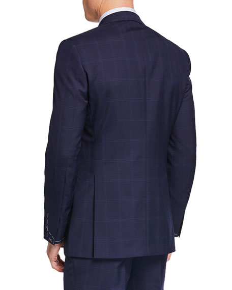 Image 3 of 4: Brioni Men's Tonal Windowpane Two-Piece Suit