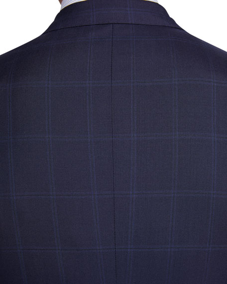 Image 4 of 4: Brioni Men's Tonal Windowpane Two-Piece Suit