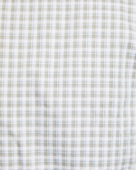 Image 3 of 3: Brioni Men's Grid Check Cotton Dress Shirt