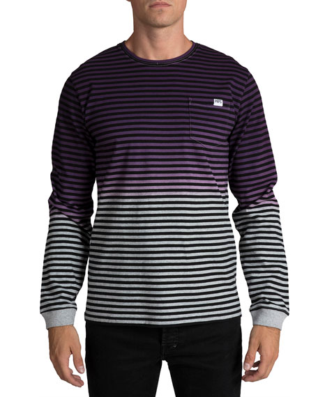 PRPS Men's Faded Striped Knit Shirt