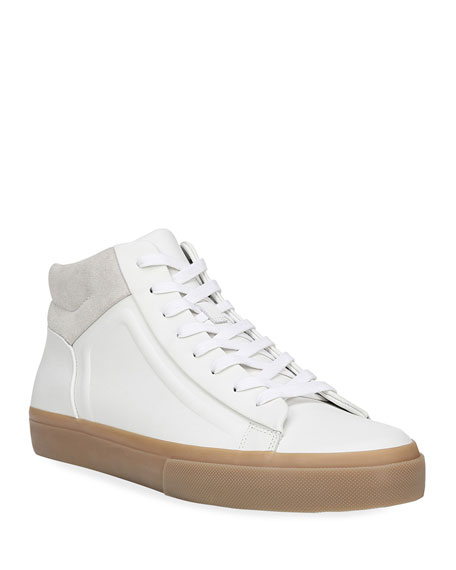 Vince Men's Fynn Glove Leather & Suede Mid-Top Sneakers