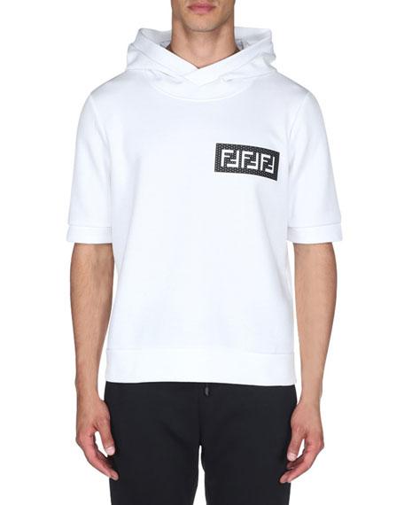 Fendi Men's FF Mesh Short-Sleeve Hoodie