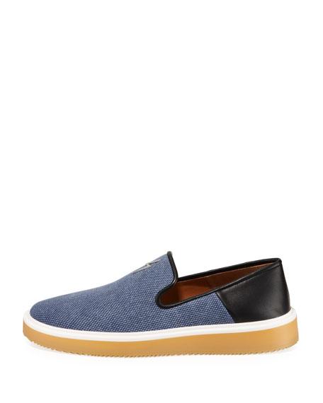 Giuseppe Zanotti Men's Canvas/Leather Slip-On Sneakers