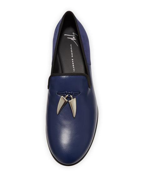 Giuseppe Zanotti Men's Shark Tooth Leather Loafers