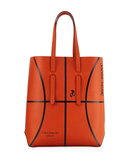 CALVIN KLEIN 205W39NYC Men's The Catch Basketball Leather Tote Bag