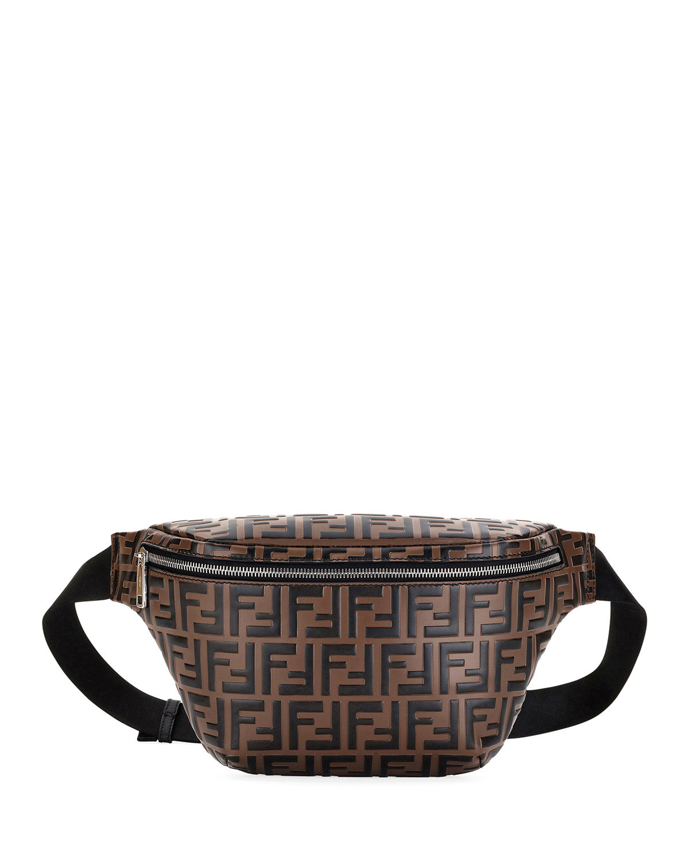 e56a5e406d4e Fendi Men s Embossed Leather Belt Bag Fanny Pack