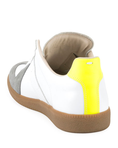 Image 3 of 3: Men's Replica Colorblock Leather/Suede Low-Top Sneakers