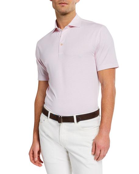 Peter Millar Men's Sean Halford Stripe Jersey Polo