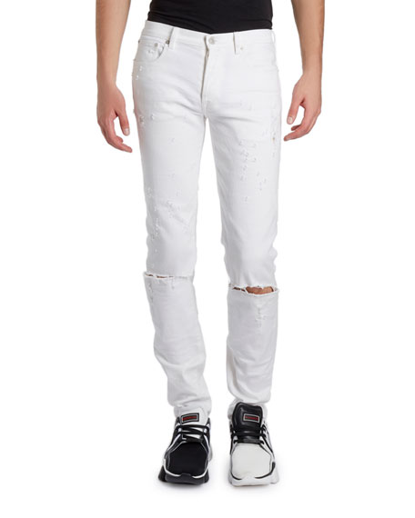 Givenchy Men's Distressed Skinny Stretch Denim Jeans