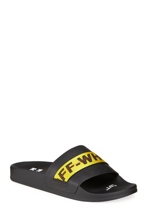 Off-White Men's Industrial Leather Slide Sandals