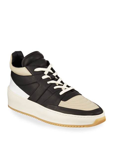 Fear of God Men's Two-Tone Leather Mid-Top Basketball Sneakers