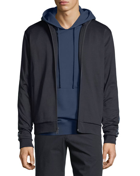 Vince Solid Jersey Pullover Hoodie