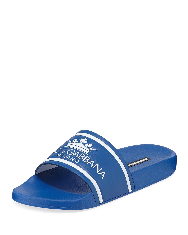 Dolce \u0026 Gabbana Men's Crown Logo Slide