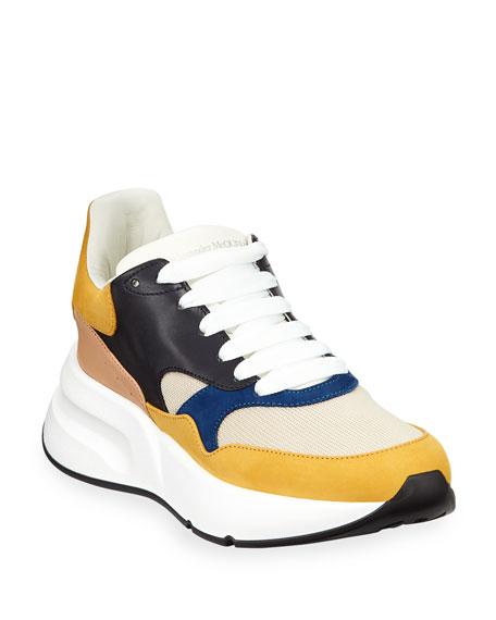 Alexander McQueen Men's Oversized Colorblock Trainer Sneakers