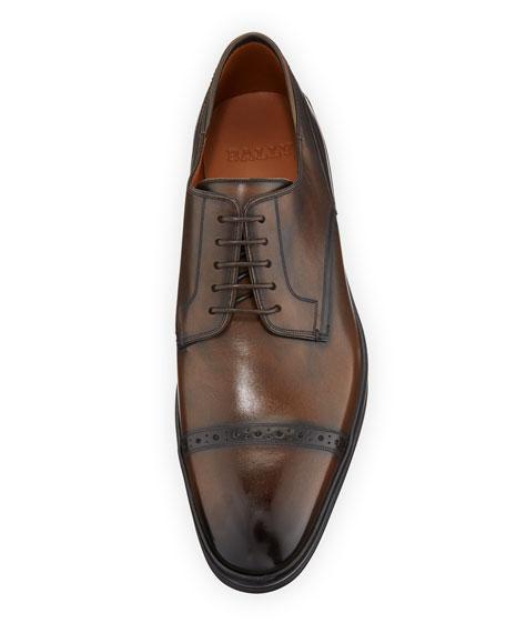 Bally Men's Reigan Cap-Toe Leather Oxfords