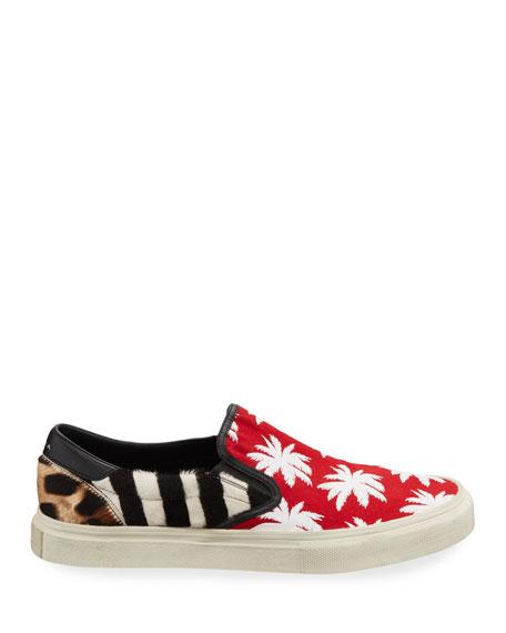 Amiri Men's Patchwork Palm Slip-On Sneakers