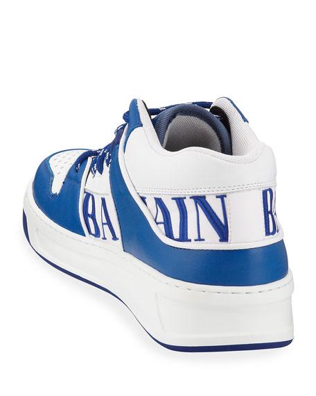 Balmain Men's Kane Low-Top Colorblock Sneakers