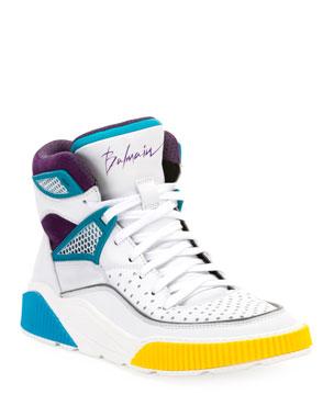 6e620a33938 Balmain Men s Kery High-Top Leather Sneakers