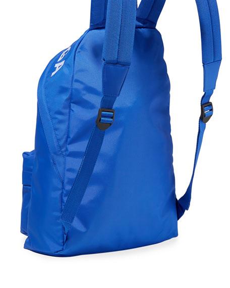 Balenciaga Men's Wheel Logo-Print Backpack