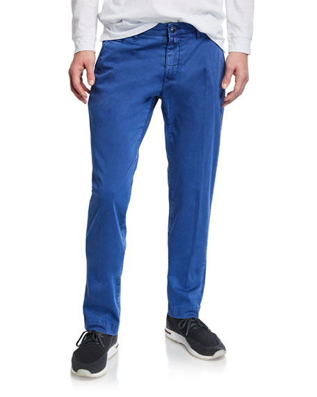Jacob Cohen Men's Bobby Stretch Cotton Pants, Blue