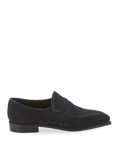 Corthay Men's Rascaille Suede Penny Loafers