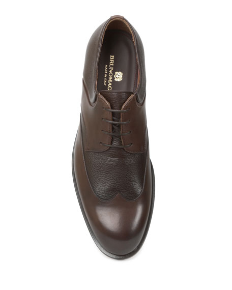 Bruno Magli Men's Salvatore Leather Wing-Tip Lace-Up Shoes