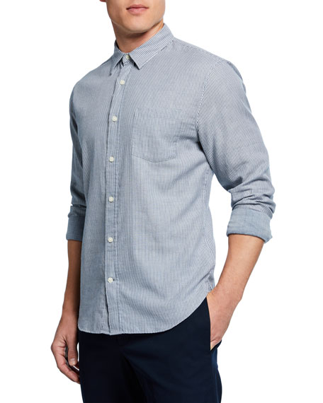 Image 1 of 2: Men's Double-Face Striped Sport Shirt