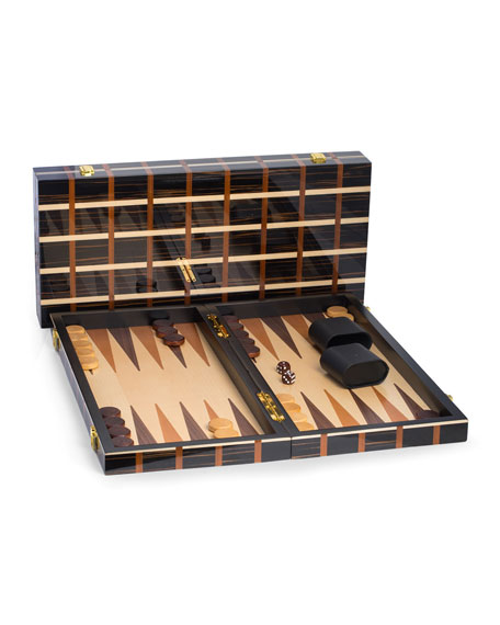 Bey-Berk Art Deco Travel Backgammon Set